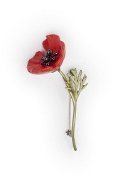 MICHAEL MICHAUD: RED POPPY PIN