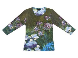 MONET WATER LILIES AND AGAPHANTHUS SHIRT