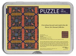 100 PC PUZZLE TIN AMISH CRAZY QUILT