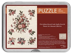 100 PC PUZZLE TIN ALBUM QUILT DETAIL