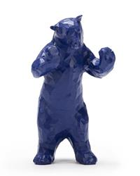 BLUE BEAR FIGURINE 8""