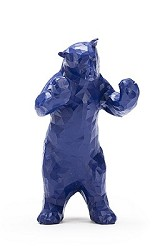 BLUE BEAR FIGURINE 5""