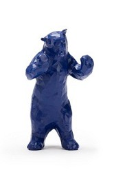BLUE BEAR FIGURINE