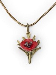 "MICHAEL MICHAUD: RED POPPY 16"" ADJ PENDANT"