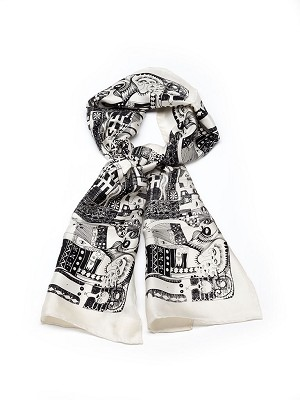 """URBAN IMMIGRANTS"" AFRICAN TEXTILE SCARF"