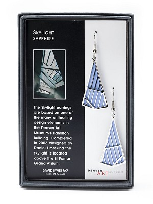 EARRINGS: DENVER ART MUSEUM SKYLIGHT - SAPPHIRE,ERC8512