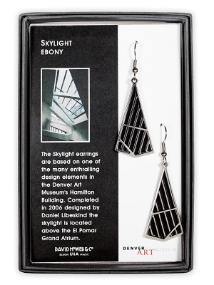 EARRINGS: DENVER ART MUSEUM SKYLIGHT - EBONY,ERC8585
