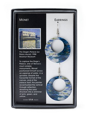 EARRINGS: MONET DOGES PALACE,ERS8090
