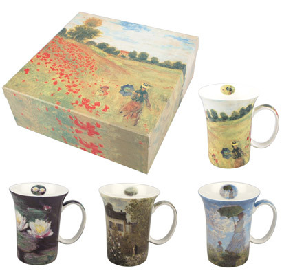 MUG 4 SET BONE CHINA - MONET,MC020119