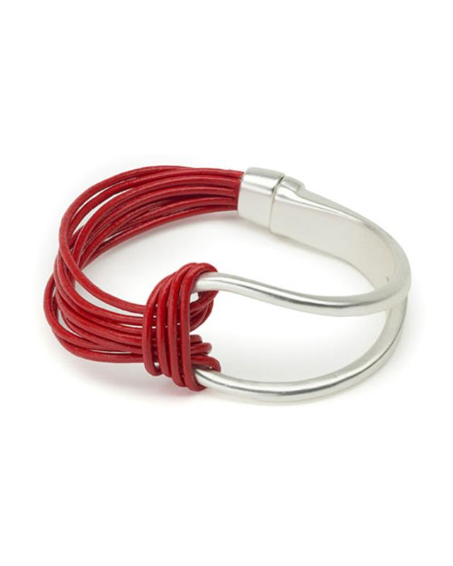 ORIGIN JEWELRY: MAGNETIC LEATHER BRACELET,6065-9