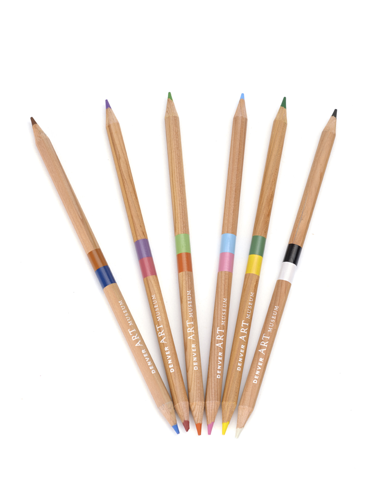 DUAL COLOR PENCIL SET OF 6 DENVER ART MUSEUM BRANDED,MPL13