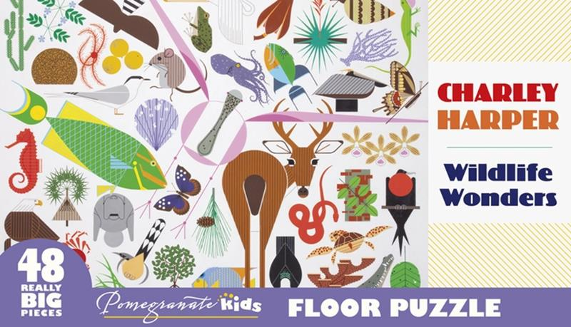 CHARLEY HARPER:  WILDLIFE WONDERS 48 PC PUZZLE,FP001