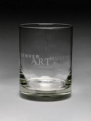 DENVER ART MUSEUM BRANDED SATIN ETCHED GLASS