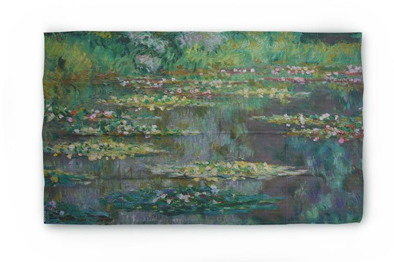 COTTON TEA TOWEL WATERLILIES,MP K2