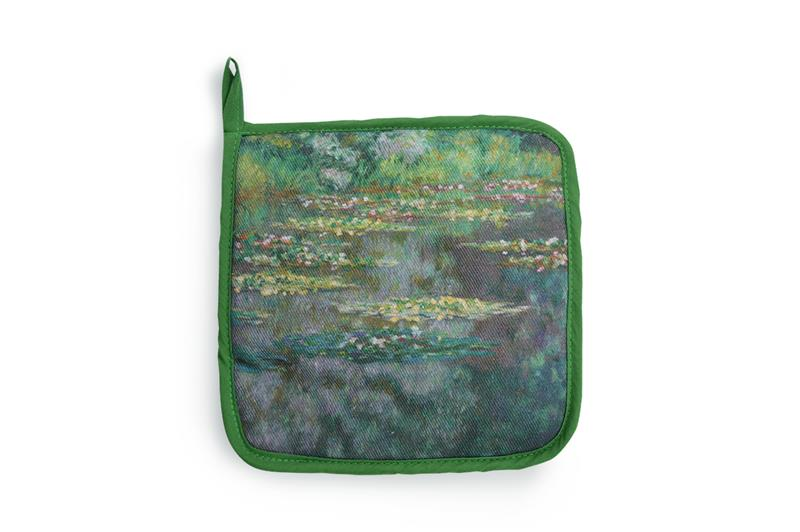 COTTON POT HOLDER WATERLILIES,MP K4