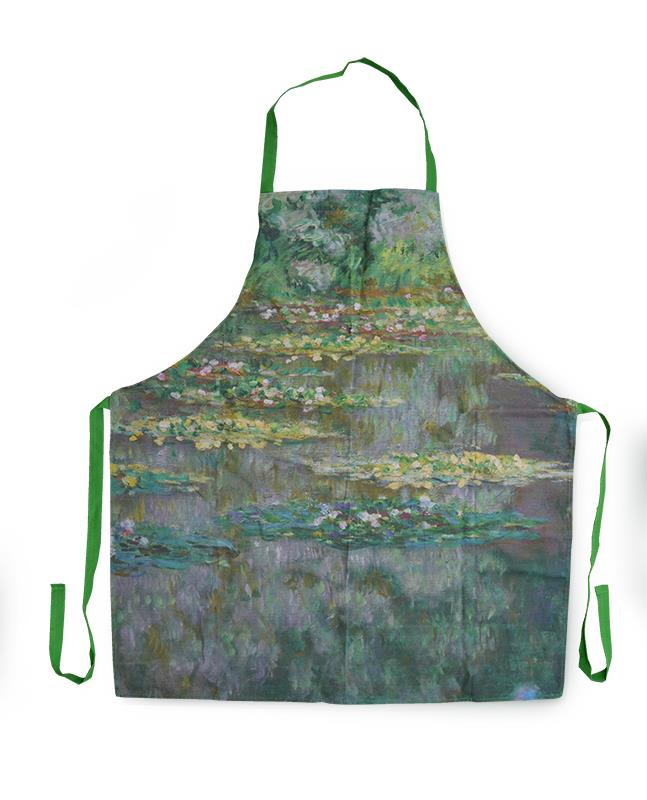 COTTON APRON WATERLILIES,MP K5
