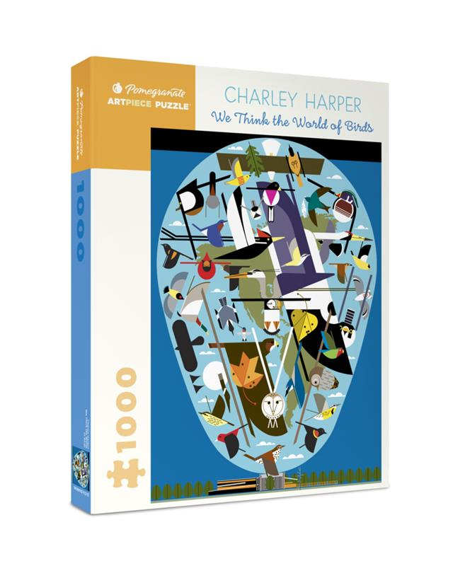 1000 PC PUZZLE CHARLEY HARPER: WE THINK THE WORLD OF BIRDS,AA1056